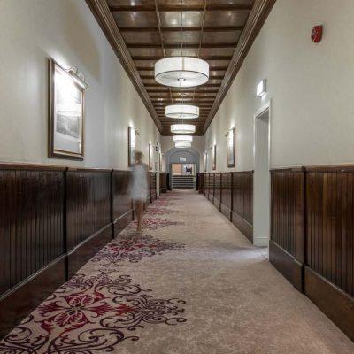 Beaumont Estate Corridor Bespoke Wilton Carpet Design