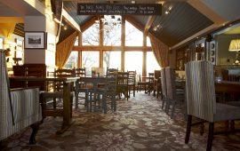 Lush Botanical Carpet Adorns The Three Bears Bar And Restaurant