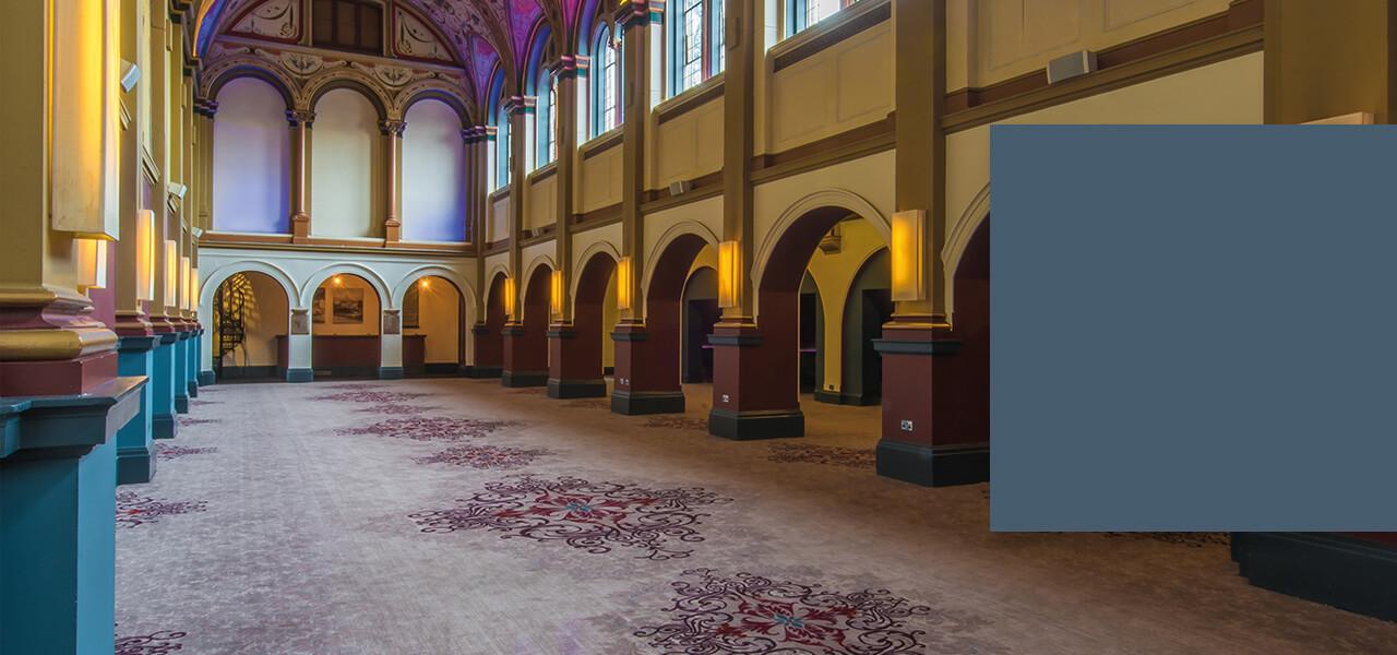 The Chapel at Beaumont Estate. Wilton Carpets. Bespoke.