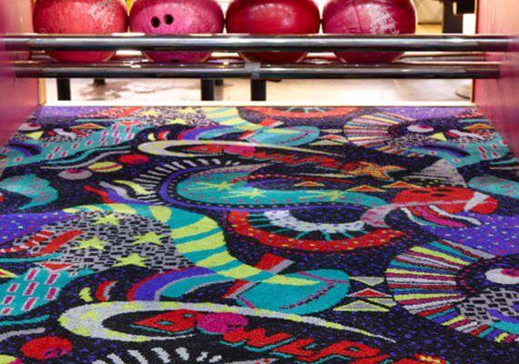 branded axminster carpet tiles for the leisure sector