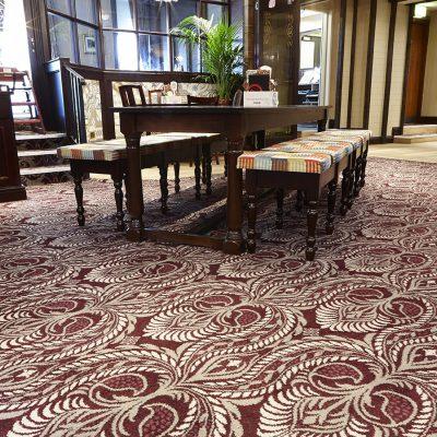 County Hotel, Lytham St Annes, Wilton Bespoke Carpet